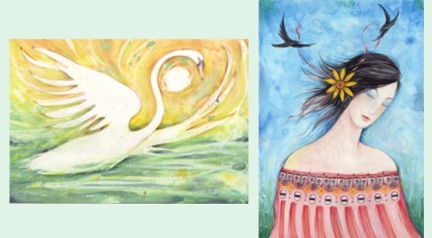 Swan and Stripey Daisy