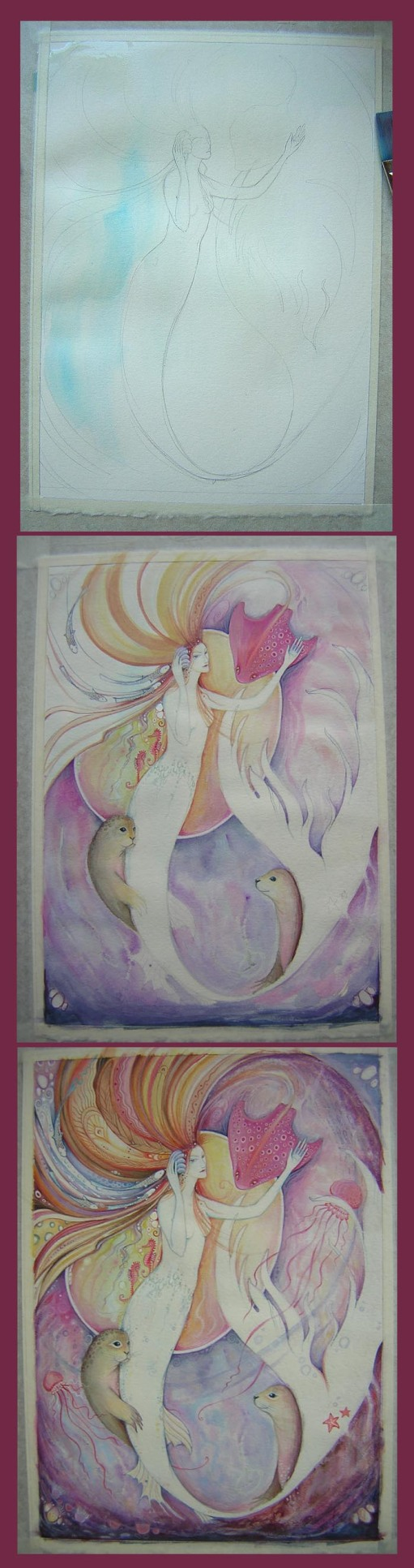Aqualina Mermaid Painting