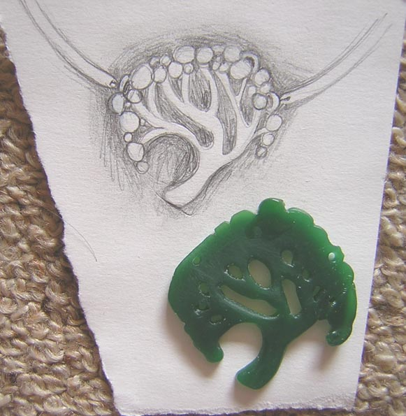 New jewellery design tree necklace and brooch liza