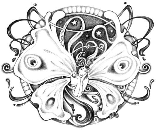 Art Nouveau Style Tattoos Gorgeous Art Nouveau Style