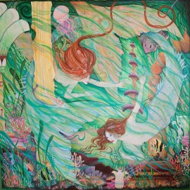 Mermaids Atlantis art painting