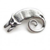 cat pewter pin brooch