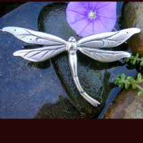 DRAGONFLY~art nouveau dragonfly brooch~