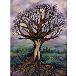 dryad Tree goddess art picture
