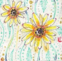 Daisy miniature painting2