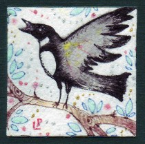 magpie original painting 2
