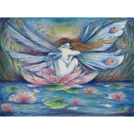 lilypond fairy lovers painting art