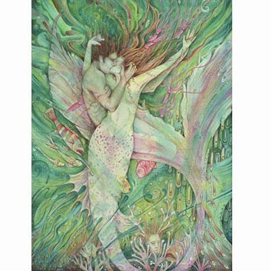 mermaid art liza paizis
