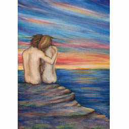 ocean Lovers romantic painting