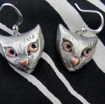 cat face earrings 4