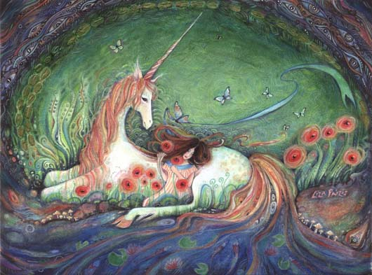 Unicorn painting liza paizis