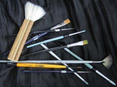 watercolor paintbrushes