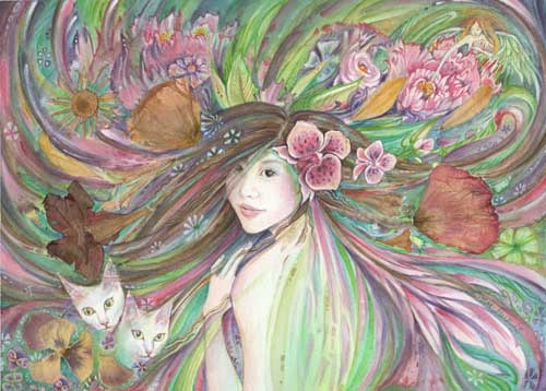 Spring Queen painting