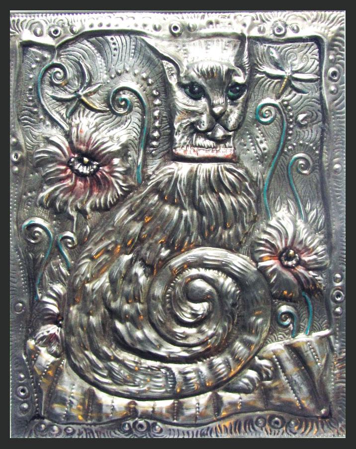 silver cat