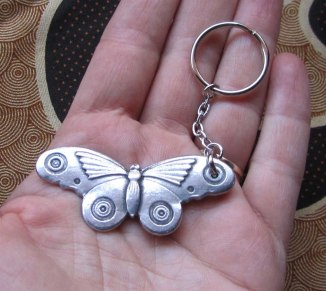 Art Deco Moth keychain