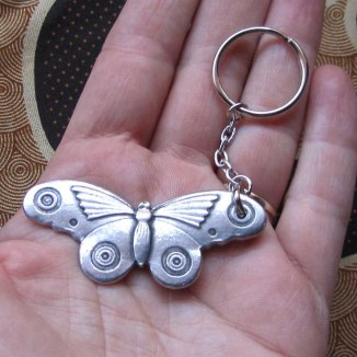 Art Deco Moth keychain