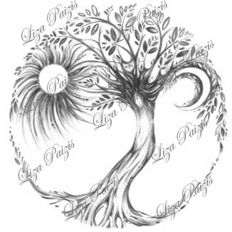 Tree of Life tattoo design and other unique tattoo designs, and copyright laws