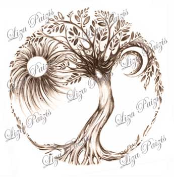 tree of life tattoo drawing liza paizis