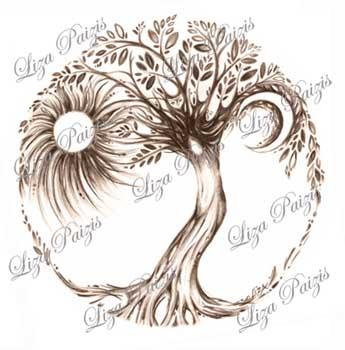 tree of life tattoo drawing liza paizis