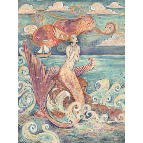 mermaid whimsical art