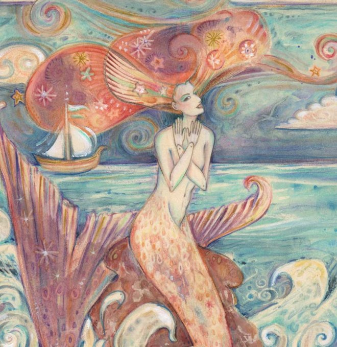 mermaid whimsical painting