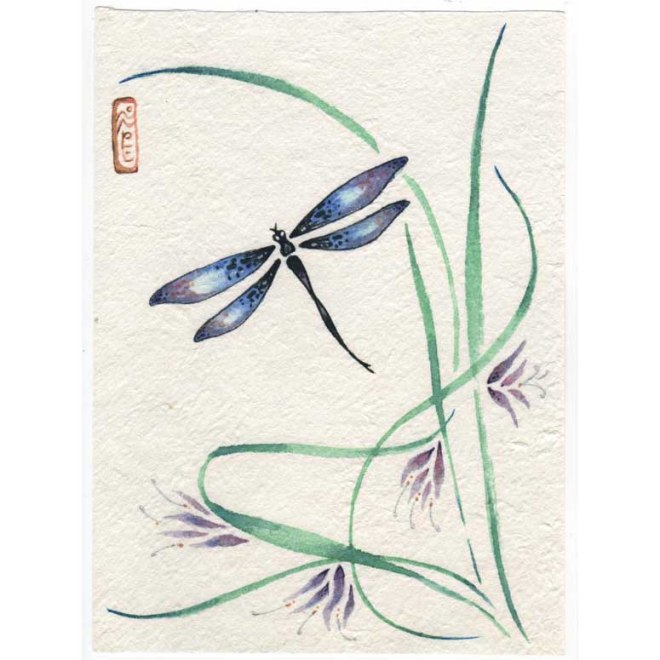 dragonfly brush painting