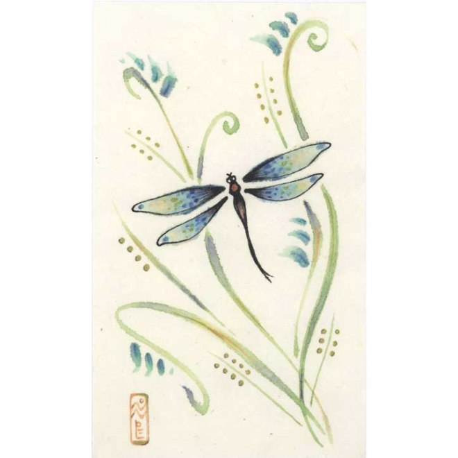 dragonfly chinese sumi-e