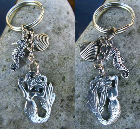 mermaid zipper pull