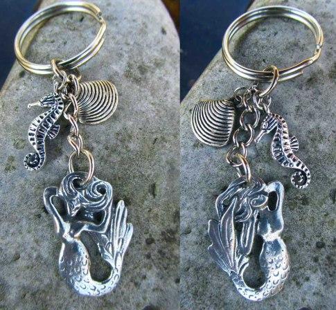 mermaid zipper pull