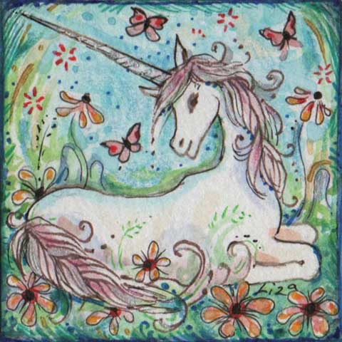 unicorn painting art