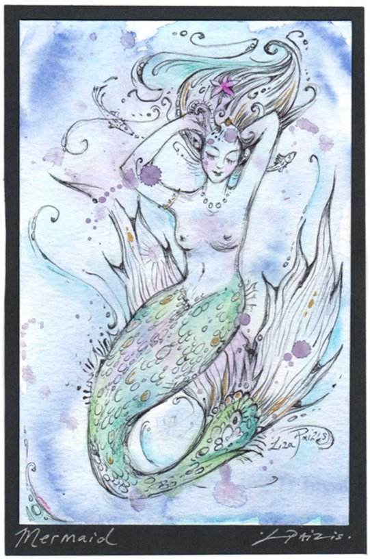 mermaid painting art 1