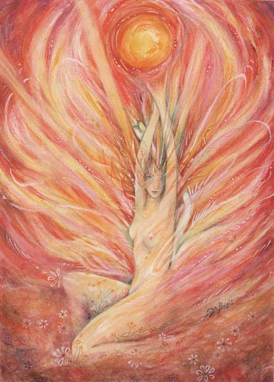 Dawn Goddess painting