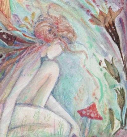 garden fairy painting